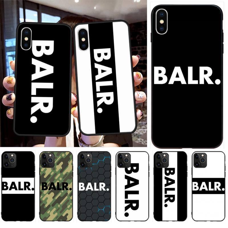 Coque de protection pour t l phone noir BALR TPU de marque de luxe pour iPhone 960x960