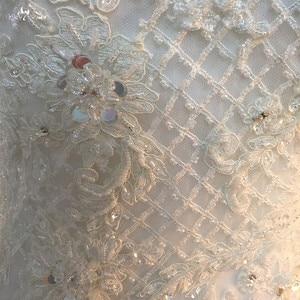 Image 5 - LZ373 Sexy Schatz Neck Sleeveless Lange Meerjungfrau Kleid Luxus Perlen Crysatl Hochzeit Kleid Robe De Mariage
