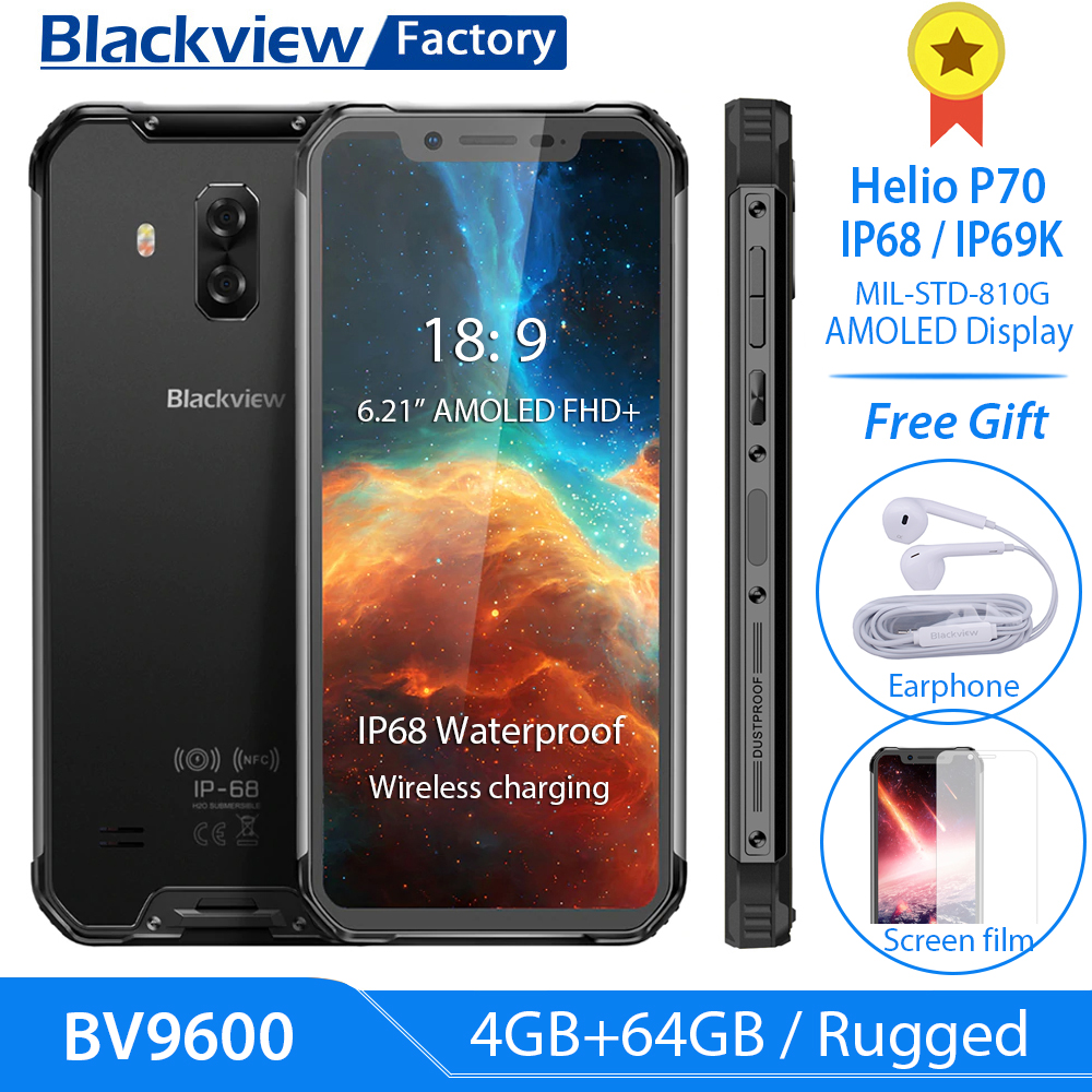 BLACKVIEW BV9600 6,21 zoll FHD + P70 AI handy IP68 Gesicht ID Smartphone 16MP 4GB + 64GB drahtlose lade NFC Android 9.0 4G LTE-in Handys aus Handys & Telekommunikation bei AliExpress - 11.11_Doppel-11Tag der Singles 1