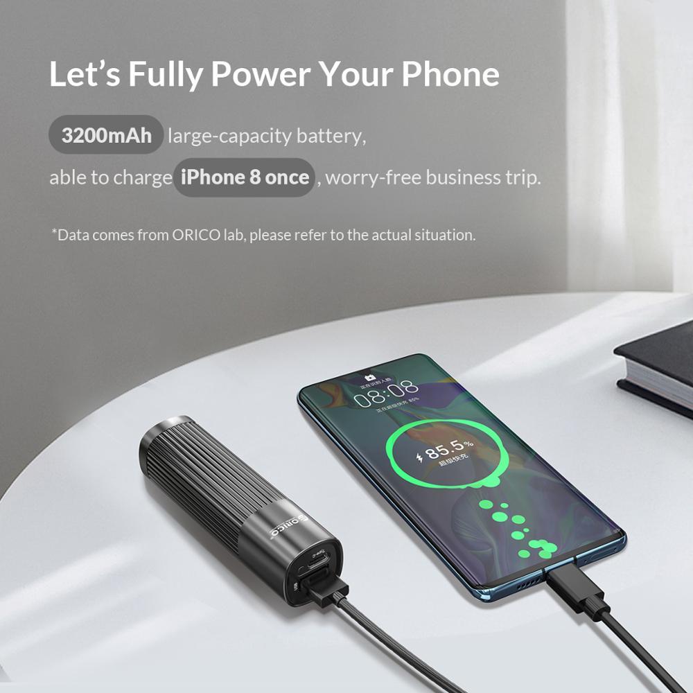 Image 4 - ORICO Mini mujer Powerbank 3200mah carga rápida 5V 2A cargador de teléfono para iphone 8 8S XS MAX Xiaomi 9-in Cargador portátil from Teléfonos celulares y telecomunicaciones on AliExpress