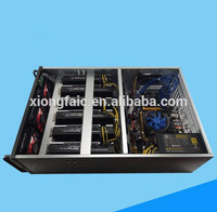 Ethernet ETH/ETC/ZEC/XMR 4U ore mining case square chassis 6/8 graphics server chassis with CPU Power Supply and others