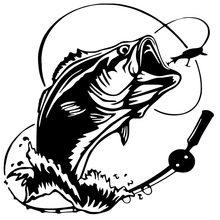 Paly legal etiqueta do carro baixo pesca peixe oceano mar caminhão carro janela auto acessórios exterior da motocicleta vinil decalque, 17cm * 17cm