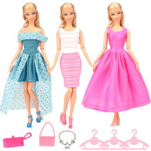 2019 Newest Hot Sale Doll Accessories Handmade High Quality Clothes Outfit For Barbie Doll Best Gift Birthday Party For Girl ever after doll 9 5 inch high quality toys apple white raven quee joint 11 joints birthday gift for barbie accessories diy doll