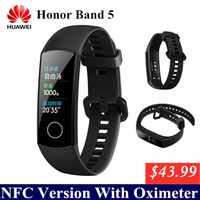 Huawei Honor Band 5 con NFC banda inteligente oxímetro Color pantalla natación trazo detectar Monitor de ritmo cardíaco durante el sueño Honor Band 4 5