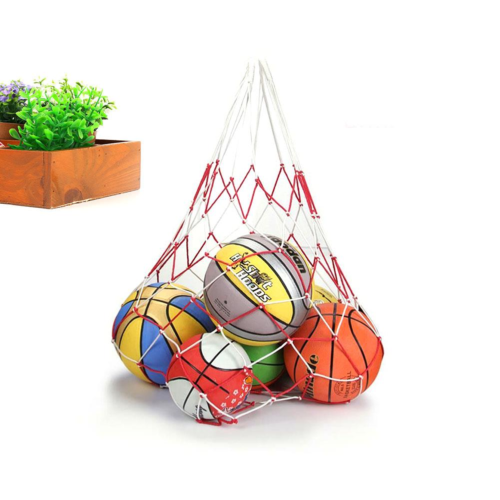 Carry Portable String Bag Dilly Bag Soccer Net Balls Fashion PE Tool Tuck Net Large Volleyball Sport Net Equipment