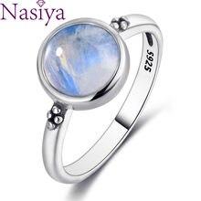 Nasiya Elegant Simple Moonstone Rings For Women 925 Silver Moonstone Jewelry Anillos Wedding Anniversary Engagement Gifts