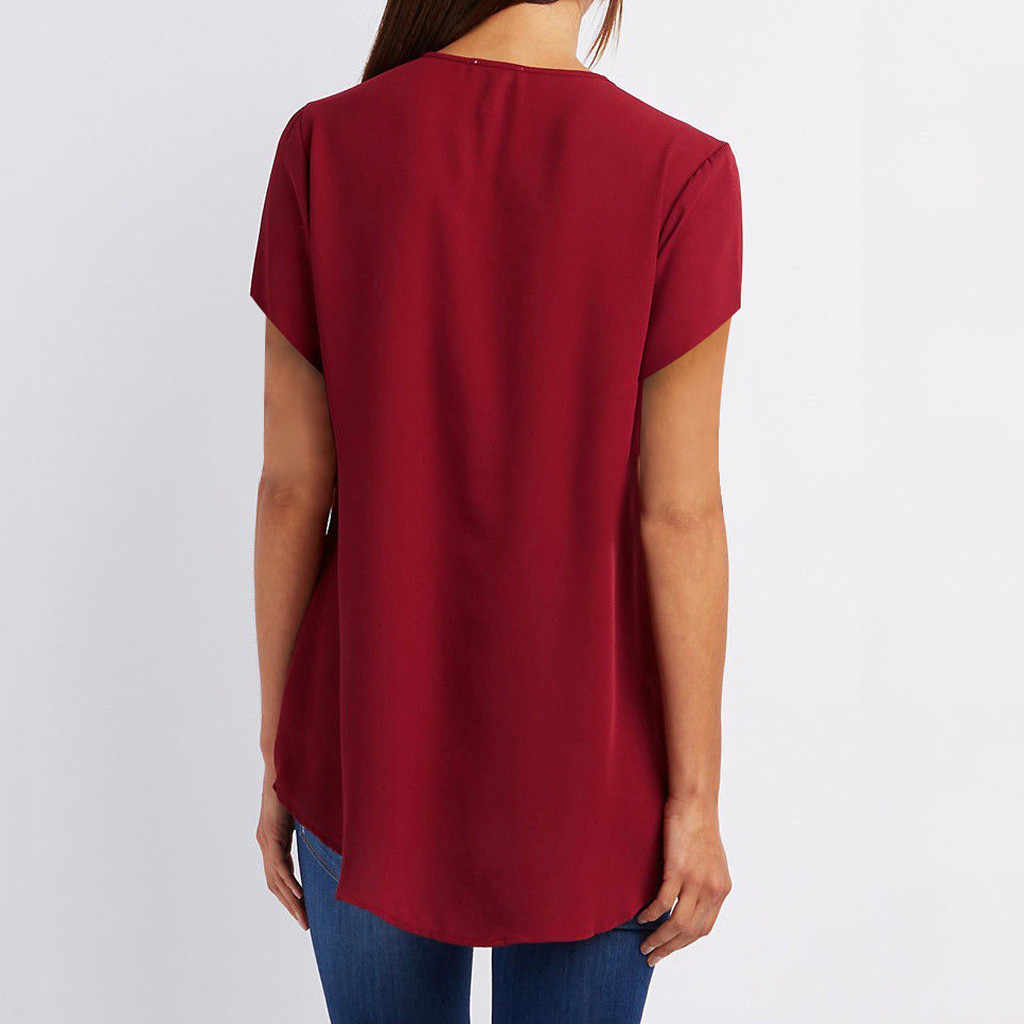 Plus Size Nữ Áo Năm 2019 Mới Thời Trang Cổ V Gợi Cảm Dây Kéo Size Lớn Tay Dài Kéo Áo Ngực Áo Lót Nữ áo #15