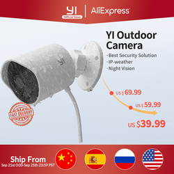 YI outdoor security camera 1080p cloud storage wifi 2.4G IP cam weatherproof infrared night vision motion detection home Cameras