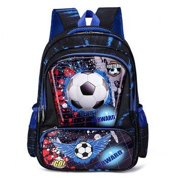 New Boys Girls Cars Primary Backpacks Orthopedic Kids Football Print School Bags Waterproof Knapsack Grade 1-4 Book Satchels - discount item  30% OFF School Bags