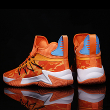 Men Basketball Shoes High Top Basketball Sneakers men Professional Street Basketball Combat Boots Colorful Training Gym Shoes cheap KevinSmith CN(Origin) Medium(B M) Rubber Cotton Fabric FREE FLEXIBLE Lace-Up Spring2019 Fits true to size take your normal size