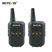 Retevis Mini Walkie Talkie RT15, estación de Radio bidireccional portátil, UHF VOX, transmisor de carga USB, comunicador walkie talkies, 2 uds.