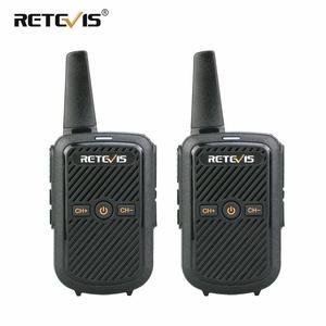 Image 1 - Retevis RT15 Mini Walkie Talkie 2 sztuk przenośny dwukierunkowy stacji radiowej UHF VOX USB do ładowania Transceiver komunikator walkie talkie