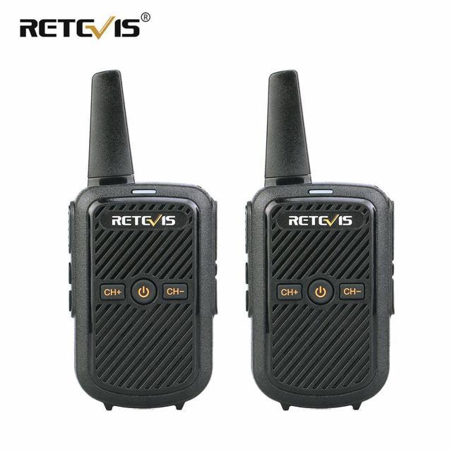 Retevis RT15 Mini Walkie Talkie 2pcs Portable Two Way Radio Station UHF VOX USB Charging Transceiver Communicator Walkie Talkies