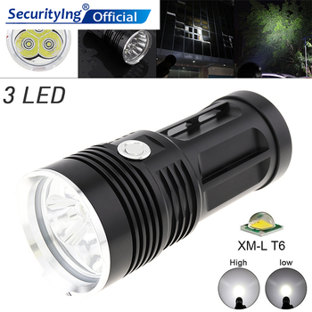 Waterproof Lights 60W 1800 Lumens  3x XM-L XML T6 LEDs 5 Modes Outdoor LED Flashlight Light High Power Flash Lamp for Hiking tangspower 1200lm cree xml u2 5 leds 3 modes white light aluminum led flashlight