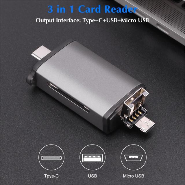 GOOJODOQ Card Reader Micro USB 2.0 Type C to SD Micro SD TF Adapter Accessories OTG Cardreader Smart Memory SD Card Reader 1