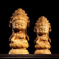 Деревянная статуя Гуаньинь, деревянная статуя Гуань Инь, китайский Будда, дом милости, богиня Бодхисаттва, украшения