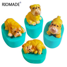Mini Bulldog Silicone Mold Cake Decoration Tools Small Dogs Theme Fondant Molds Mould Plaster Cement Polymer Clay Animal Mould