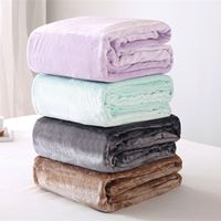 Flanela velo lance cobertor beddingoutlet macio cobertor de viagem cor sólida colcha capa de pelúcia para cama sofá presente quente dropship