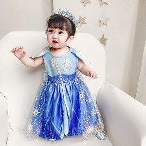 Image 1 - New Movie Frozen 2  Anna Elsa Party Princess  girls party dress  little girls dresses  christmas dress for baby girls