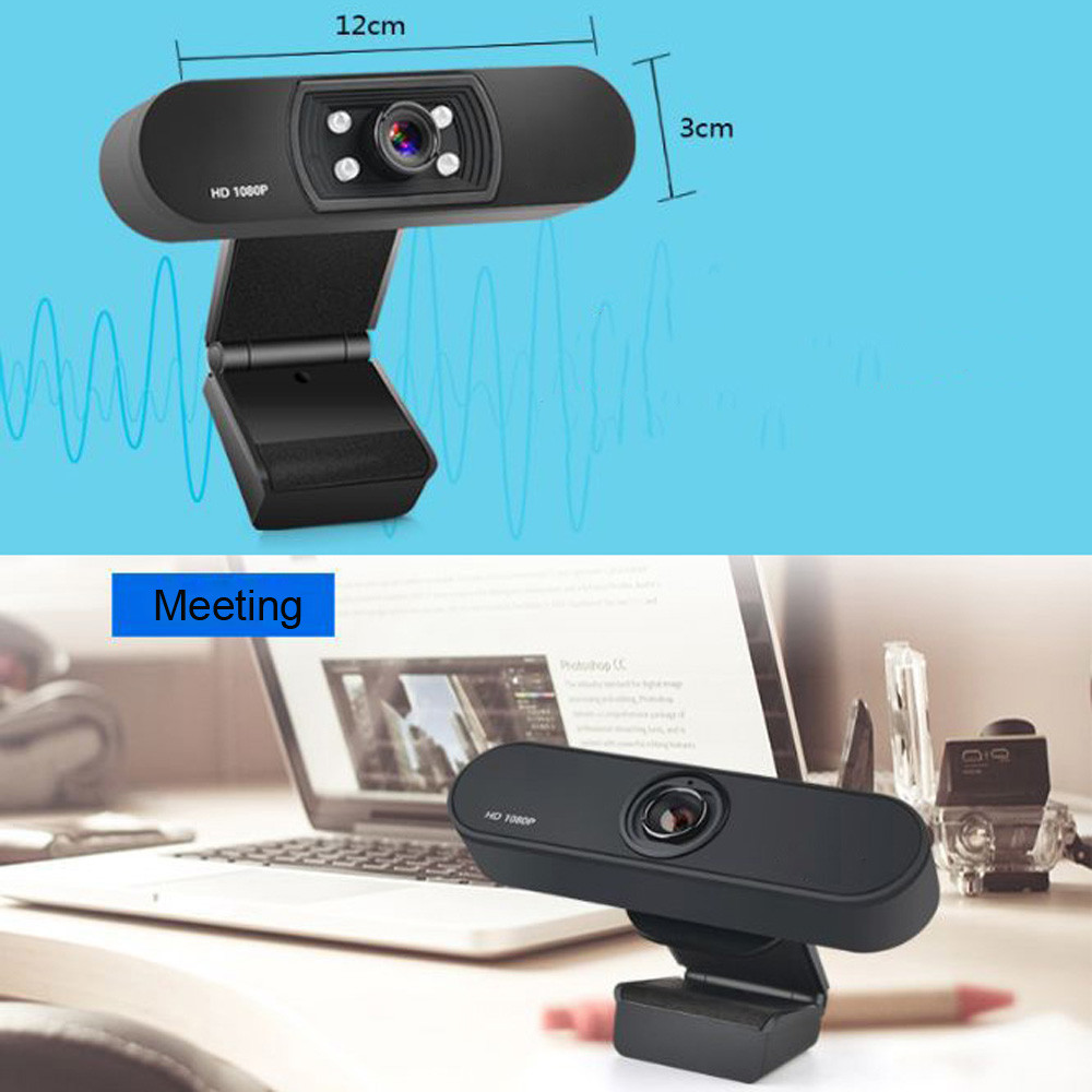 1080P USB Webcam in Clip-on Design with Built-in Noise Isolating Microphone 3