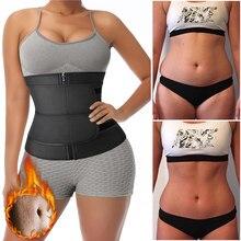 Women Waist Trainer Women Slimming Sheath Sauna Body Shaper Belly Reducing Shapewear Tummy Sweat Workout Fat Burn Trimmer Belt C