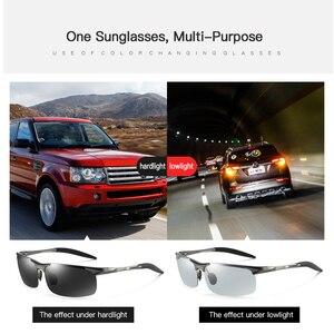 Image 3 - קוצר ראיה Photochromic משקפי שמש diopter מקוטב נהיגה goggle גברים זיקית שינוי צבע מעבר מרשם משקפיים שמש