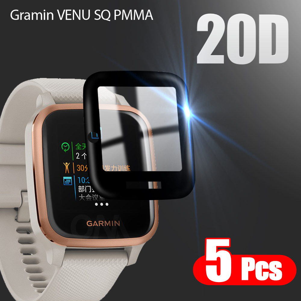 20D Curved Edge Protective film For Gramin VENU SQ / Gramin VENU SQ Smart watch Soft Screen Protector Accessories (Not Glass)