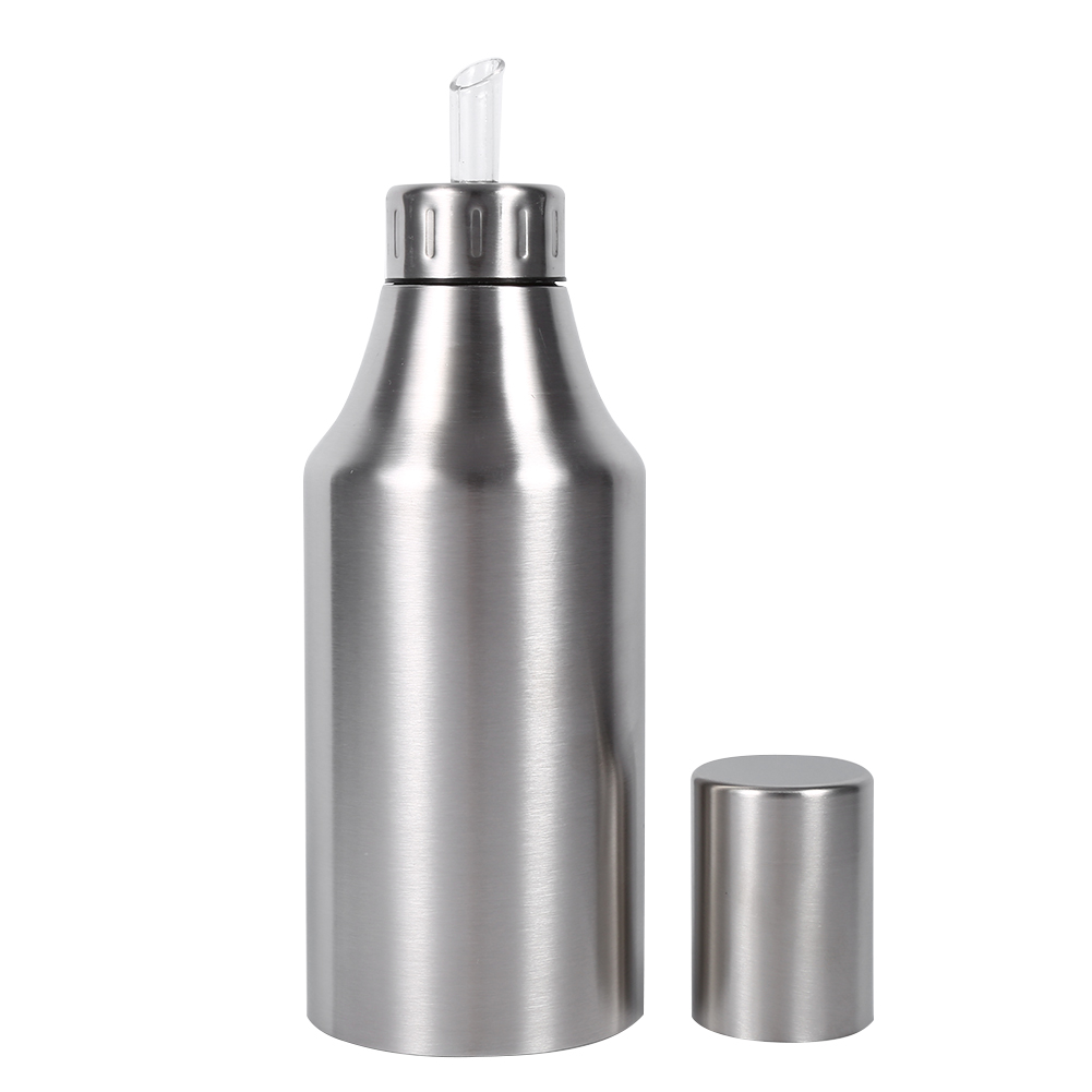 New Practical Stainless Steel <font><b>Oil</b></font> Pot Can Drizzling Vinegar Dispenser <font><b>Kitchen</b></font> Supplies <font><b>Oil</b></font> Container Quality Sauce <font><b>Bottle</b></font> Pot image
