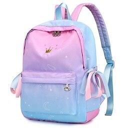 Impresso mochila mochilas crianças estudante conjunto escola