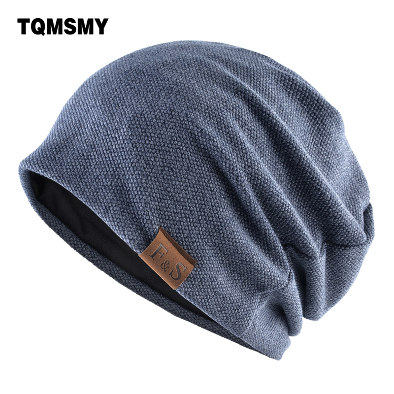 Knitted Wool Hats For Men Winter Beanies Double Layer Turban Hat Casual Unisex Hip Hop Caps Men Autumn Skiing Cap Bonnet