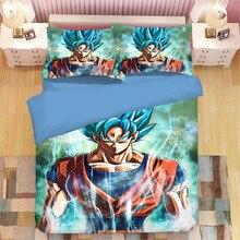 DRAGON BALL Z 3D juego de cama Son Goku Vegeta edredón fundas de almohada Dragon Ball edredón juegos de cama ropa de cama