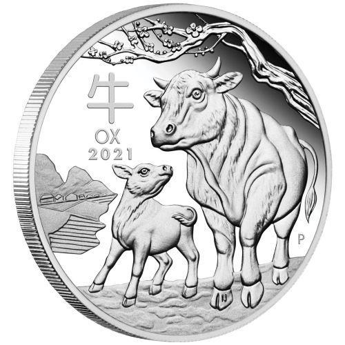 Austrália moeda de prata 2021 boi animal prata chapeado moedas réplica elizabeth moedas lembrança presentes transporte da gota