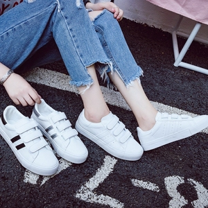 Image 2 - Women Sneakers Leather Shoes Trend Casual Flats Sneakers Female New Fashion Comfort Stiped Breathable Style Vulcanized Shoes