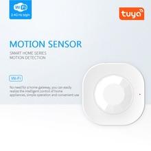 NEW Wifi Smart PIR Motion Sensor Alarm Tuya Smart Life APP Remote Control Mini Alarm Smart Home Detector Security System