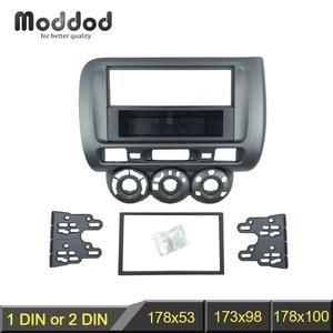 Image 2 - Radio Fascia for Honda Jazz City One Double Din DVD Stereo CD Panel Mount Installation Trim Kit Frame Bezel