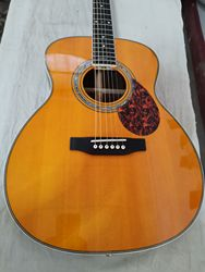 free shipping factory custom OM body acoustic guitar 14 frets guitar with signature acoustic electric guitars