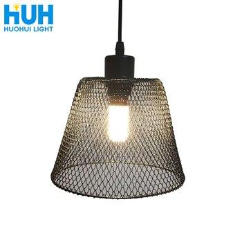Retro iron chandelier retractable metal lampshade restaurant / bar / coffee / bed room / bedroom retro American chandelier
