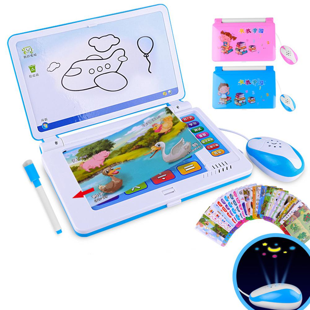 Hobbylane Baby Multifunction Language Learning Machine Kids <font><b>Laptop</b></font> <font><b>Toy</b></font> Early Educational Computer Tablet image