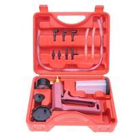 Kit de herramientas de probador de purga de frenos de bomba de presión de vacío manual de 17 Uds con adaptadores para el coche