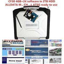 Alldata ve mi .. ch... Yazılım Atsg 2017 yüklü iyi cf30 laptop 4GB veri 10.53 m .. ch... On de...d 24 yazılımı 2TB hdd