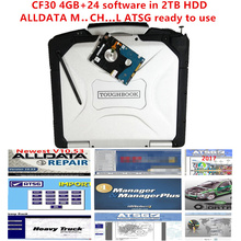 alldata and mi..ch.. software Atsg 2017 installed well cf30 laptop 4GB all data 10.53 m..ch.. on de...d 24 software in 2TB hdd