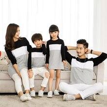 Одинаковая одежда для семьи милые хлопковые костюмы с длинным