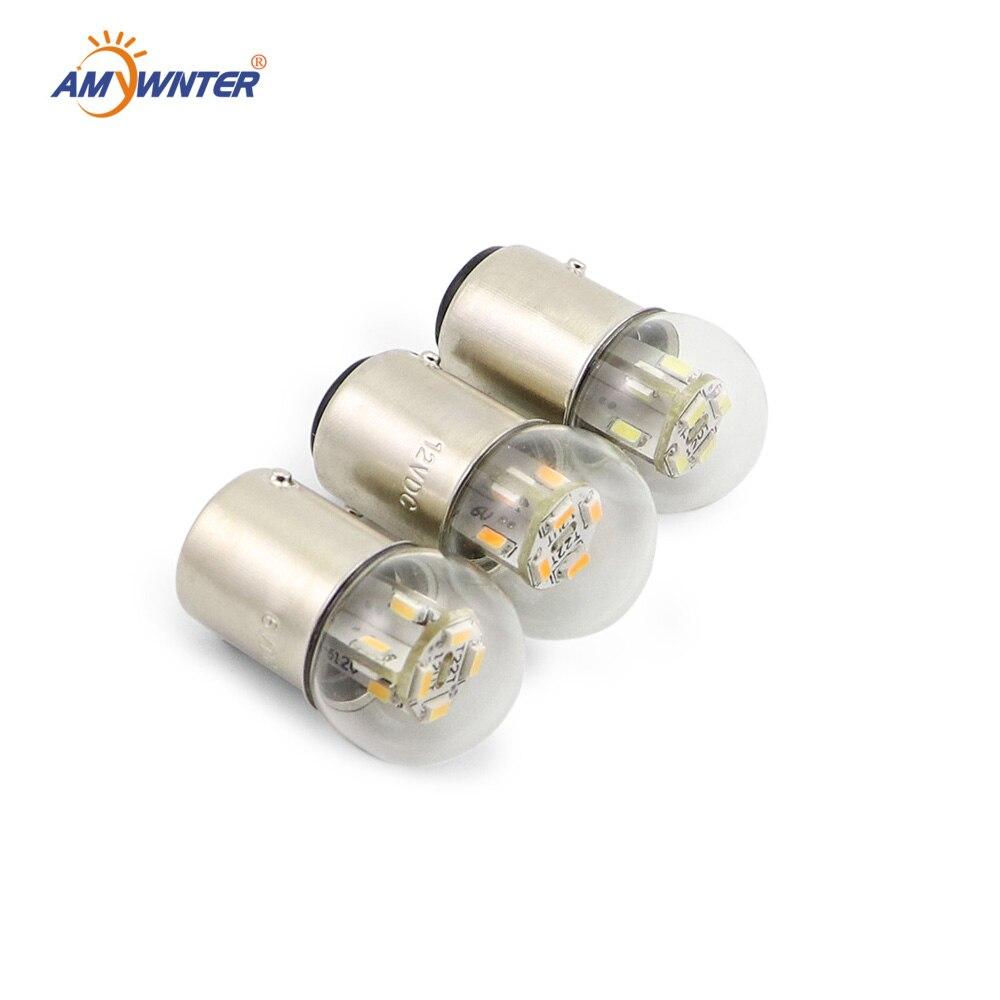 Мини-лампа 24 36 48v R5w мотоцикла лампы G18 6v светодиодный индикатор оборудования авто светильник источника сигнала поворота сзади