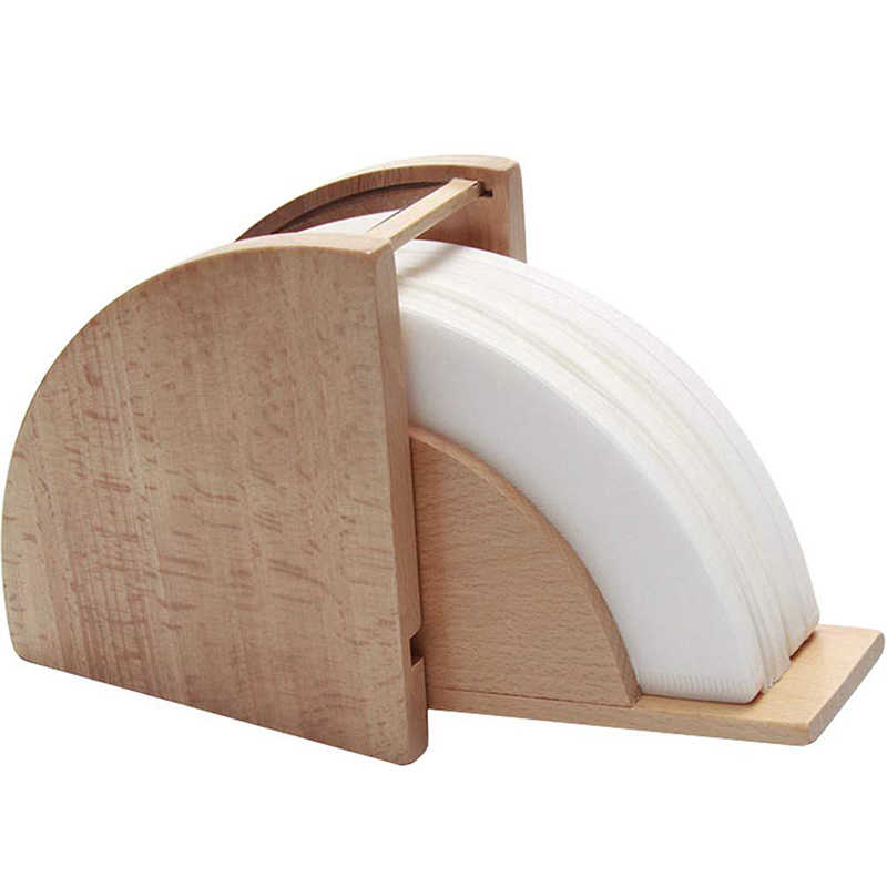ABSS-Soporte de filtro de café, contenedor dispensador de papel de café estante para Aeropress, Chemex, Hario V60 y cono de Melitta