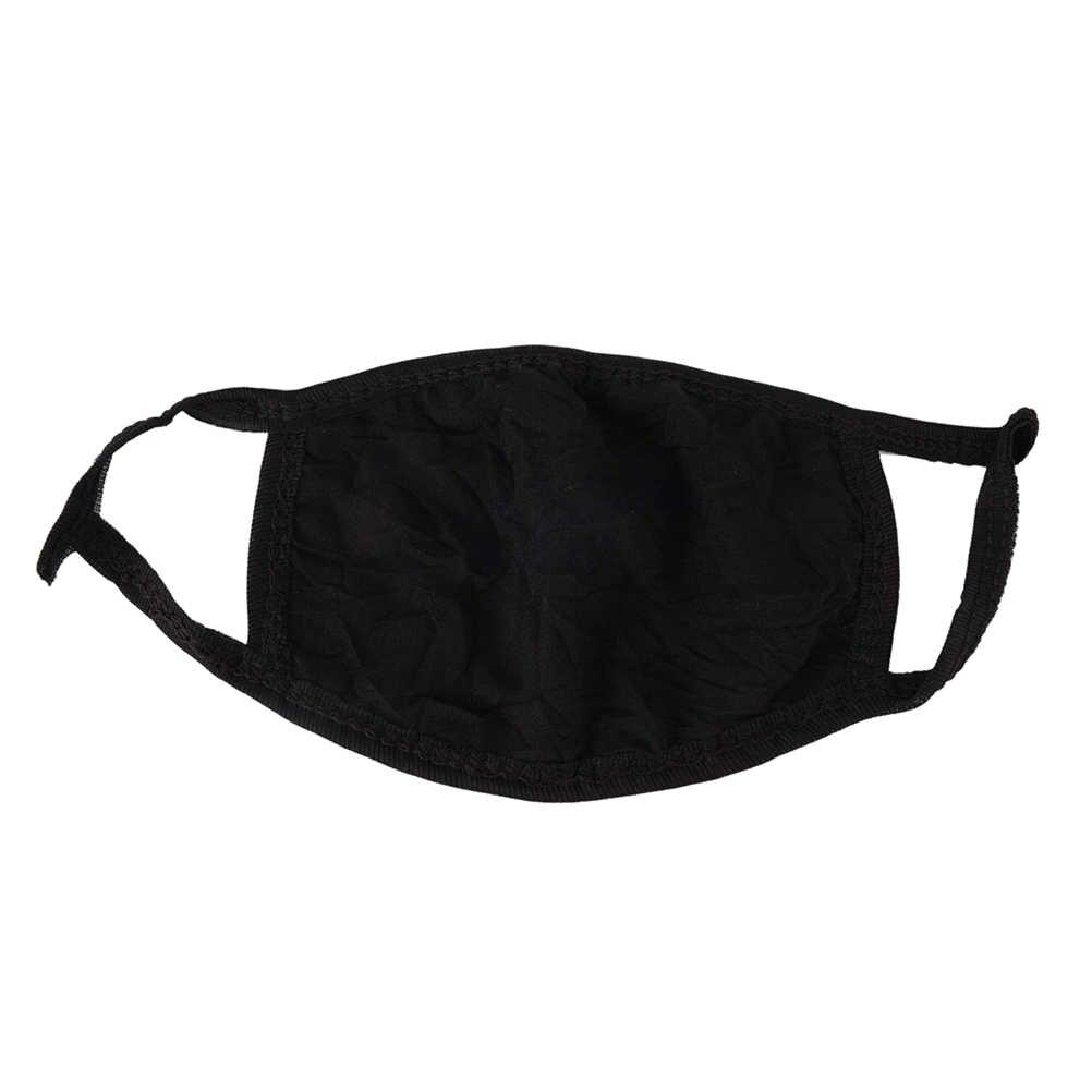 Novo preto anti-poeira máscara boca saúde ciclismo fresco respirador máscara facial lavável algodão anti poeira protetora dupla máscara kpop