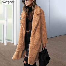 Turn-down Collar Women Jacket Casual Long Sleeve Warm Fur Women Jacket
