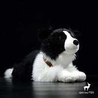 Large dolls toy soft dogs real life plush Border collie big toys for childre pillow present girlfriend