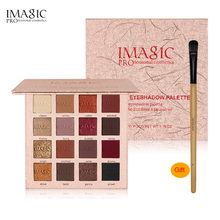 IMAGIC Shimmer Eyeshadow 16 Colors Palette Matte Waterproof Long-lasting Glitter Make Up Set Beauty