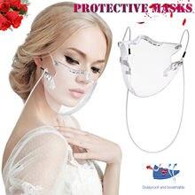 Pasamontañas lavable reutilizable, mascarilla de protección facial transparente para motocicleta, pañuelo mágico