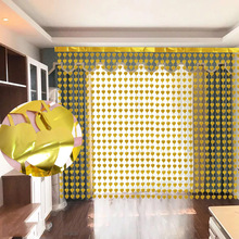 200cm Heart Foil Door Curtain Birthday Party Sequin Backdrop Window Screen Valentine Day Anniversary Home Decoration Accessories valentine s day heart angel printed shower curtain